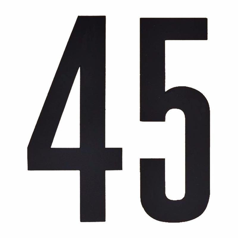 Leeftijd cijfer stickers 45 jaar Geen Hobby Cijfers en letters