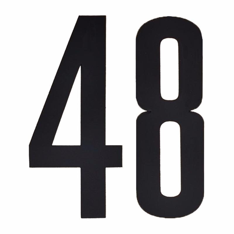 Hobby Cijfers en letters Geen Leeftijd cijfer stickers 48 jaar