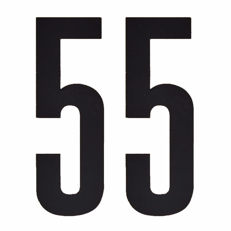 Hobby Cijfers en letters Geen Leeftijd cijfer stickers 55 jaar