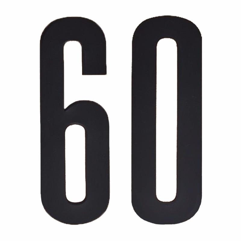 Hobby Cijfers en letters Geen Leeftijd cijfer stickers 60 jaar