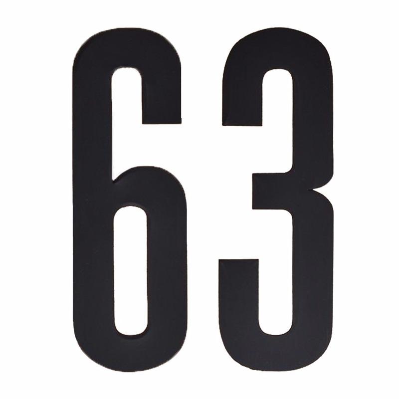 Geen Leeftijd cijfer stickers 63 jaar Hobby Cijfers en letters