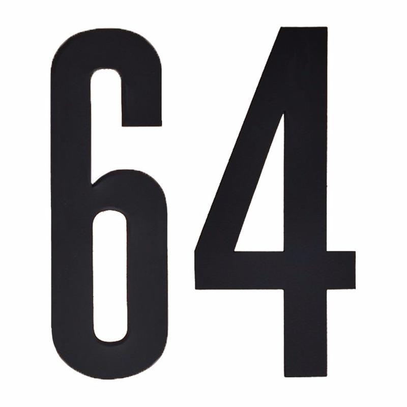 Leeftijd cijfer stickers 64 jaar Geen Hobby Cijfers en letters