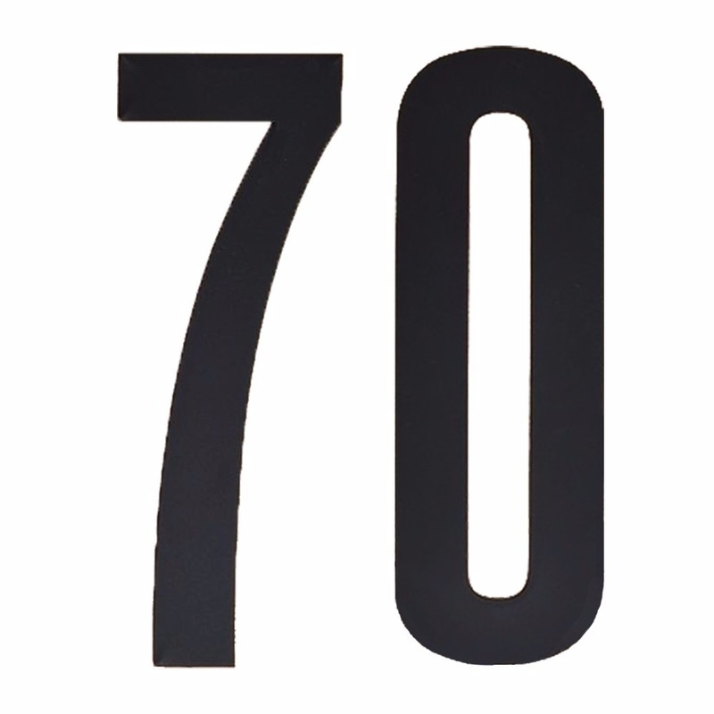 Geen Leeftijd cijfer stickers 70 jaar Hobby Cijfers en letters