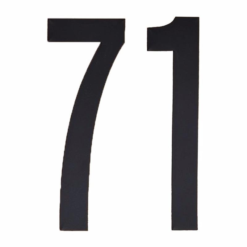 Leeftijd cijfer stickers 71 jaar Geen Hobby Cijfers en letters