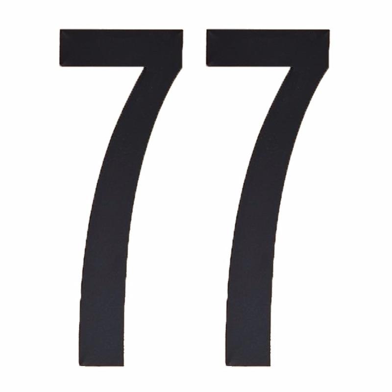 Geen Leeftijd cijfer stickers 77 jaar Hobby Cijfers en letters