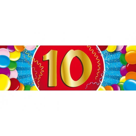 Leeftijd feestartikelen Shoppartners Leeftijd sticker 10 jaar