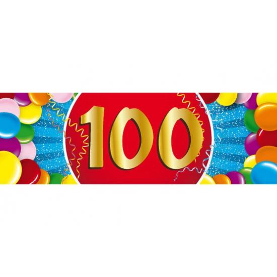 Leeftijd sticker 100 jaar Shoppartners Leeftijd feestartikelen