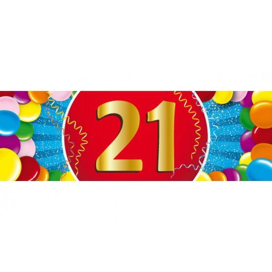 Shoppartners Leeftijd sticker 21 jaar Leeftijd feestartikelen