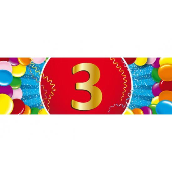 Leeftijd feestartikelen Shoppartners Leeftijd sticker 3 jaar