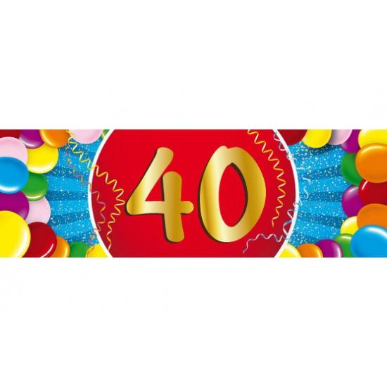 Leeftijd feestartikelen Shoppartners Leeftijd sticker 40 jaar