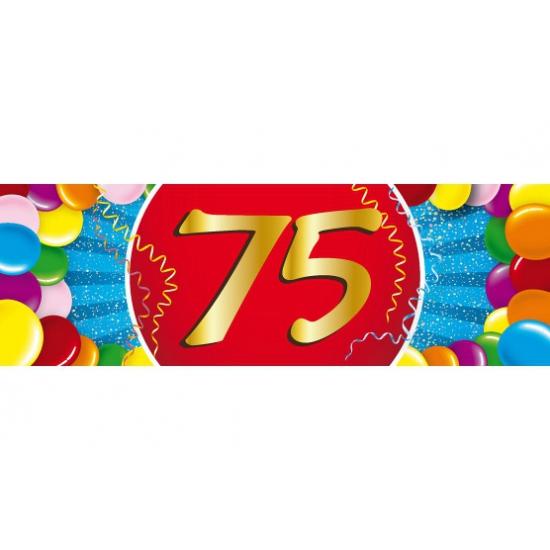 Leeftijd feestartikelen Shoppartners Leeftijd sticker 75 jaar