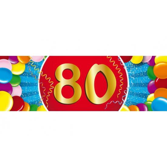 Leeftijd sticker 80 jaar Shoppartners Hoge kwaliteit