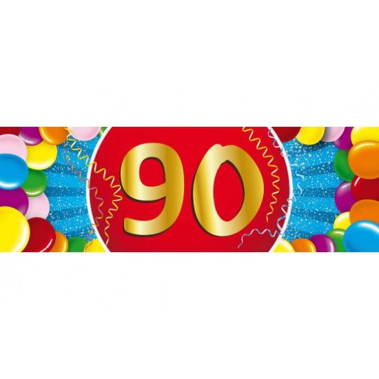 Shoppartners Leeftijd sticker 90 jaar Leeftijd feestartikelen