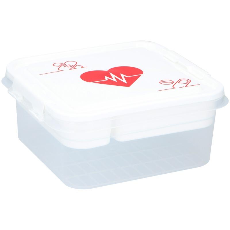 Lege EHBO box-doos-kist 4.5 liter van kunststof