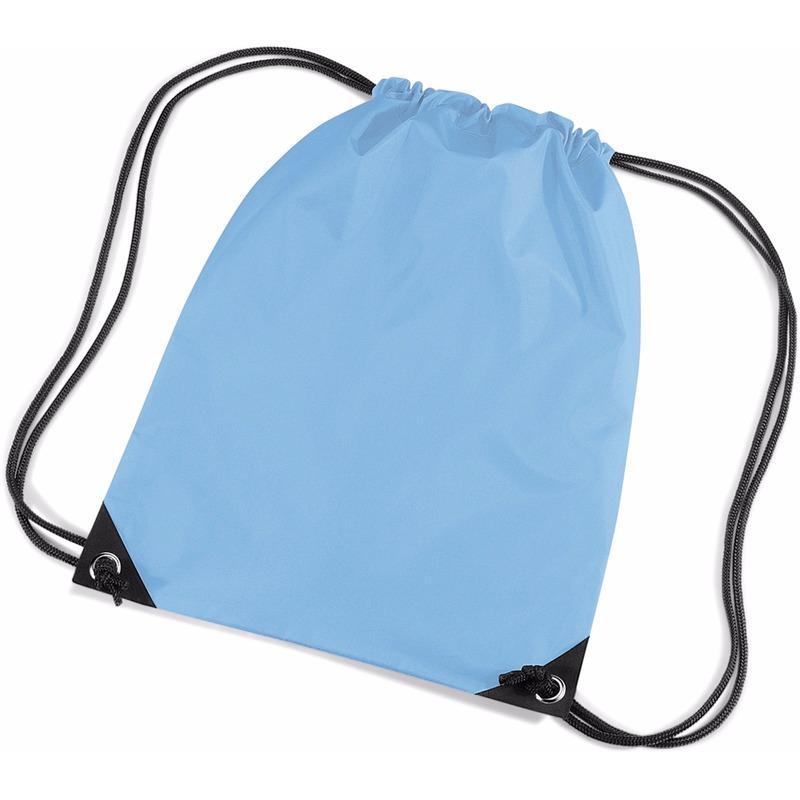 Tassen Geen Licht blauwe gymtas met koordsluiting