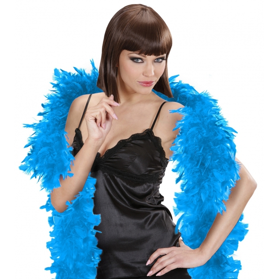 Verkleedaccessoires AlleKleurenShirts Lichtblauwe veren boa 180 cm