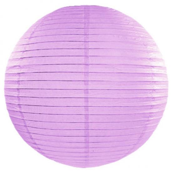 Feestartikelen diversen AlleKleurenShirts Lila lampion rond 50 cm