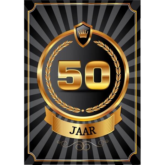 Luxe 50 jaar verjaardag poster Shoppartners beste