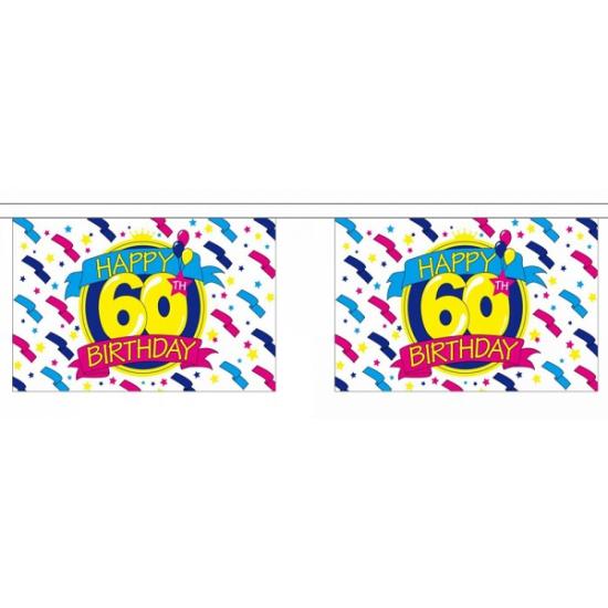 Luxe vlaggenlijn 60 jaar AlleKleurenShirts Geweldig