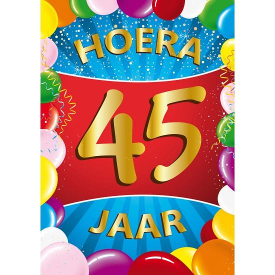Leeftijd feestartikelen Mega poster 45 jaar