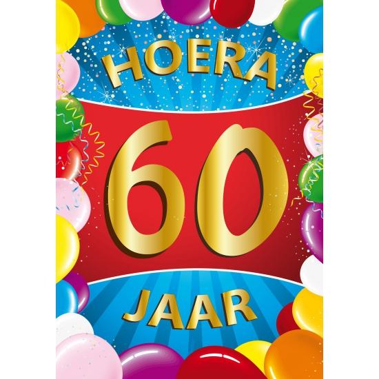 Shoppartners Mega poster 60 jaar versiering Leeftijd feestartikelen