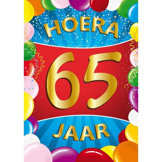 Mega poster 65 jaar versiering Shoppartners Leeftijd feestartikelen