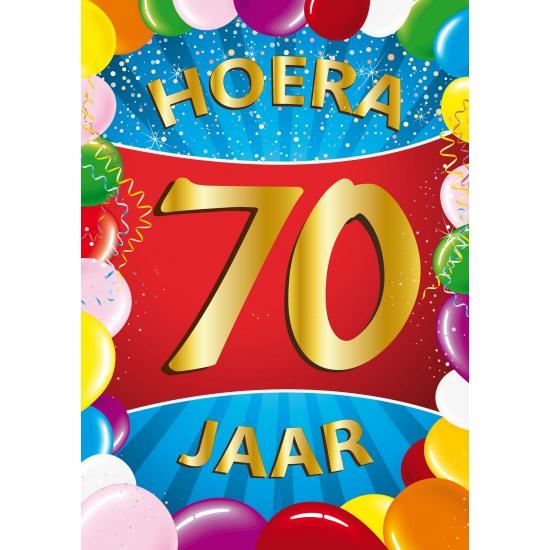 Leeftijd feestartikelen Shoppartners Mega poster 70 jaar versiering