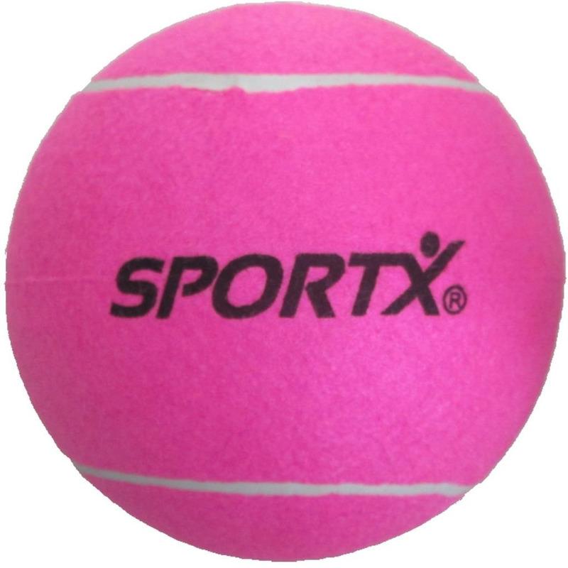Mega tennisbal roze SportX 22 cm