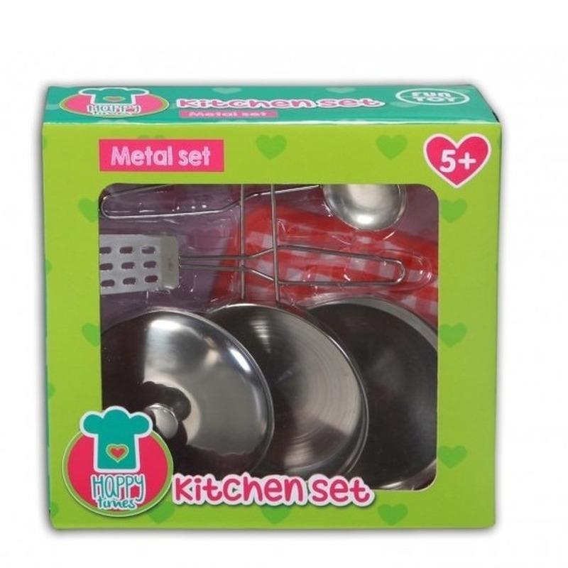 Metalen pannenset voor kinderen