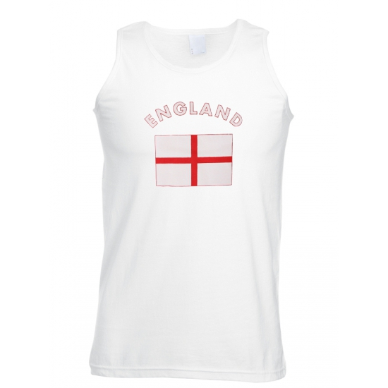 Mouwloos t shirt met Engelse vlag Shoppartners Premier