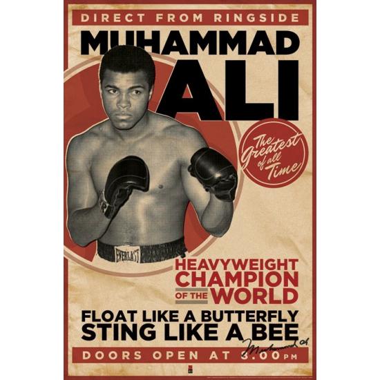 Woonaccessoires Muhammad Ali maxi poster 61 x91,5 cm