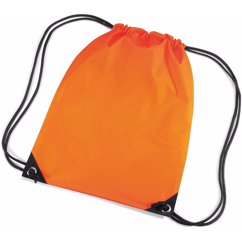 Oranje gymtas met koordsluiting Geen Beste kwaliteit