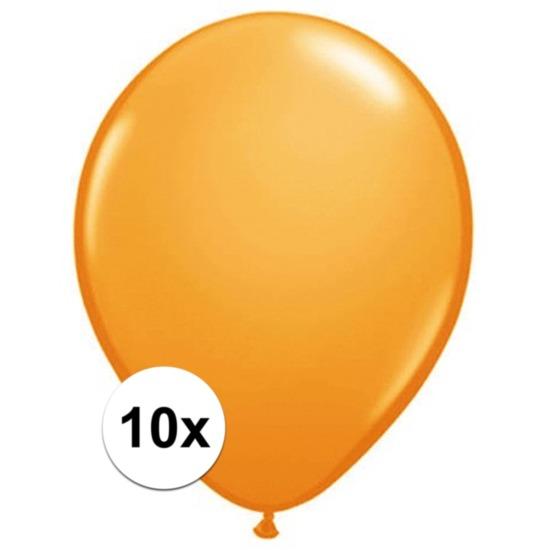 Qualatex Oranje Qualatex ballonnen 10 stuks Feestartikelen diversen
