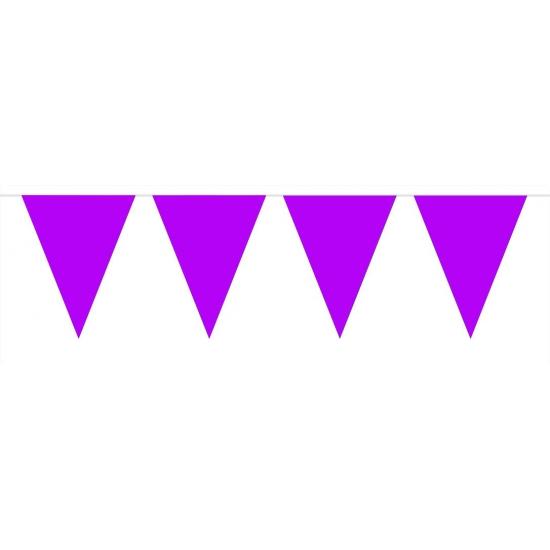 Kleuren versiering Geen Paarse vlaggenlijn groot 10 meter