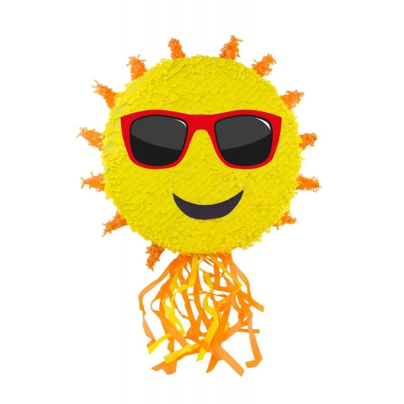 Feestartikelen diversen Geen Pinata zon met zonnebril