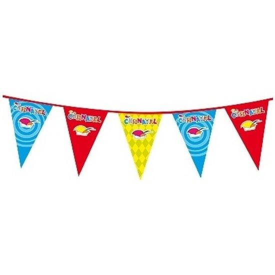 Thema feestartikelen AlleKleurenShirts Plastic Carnaval vlaggenlijnen