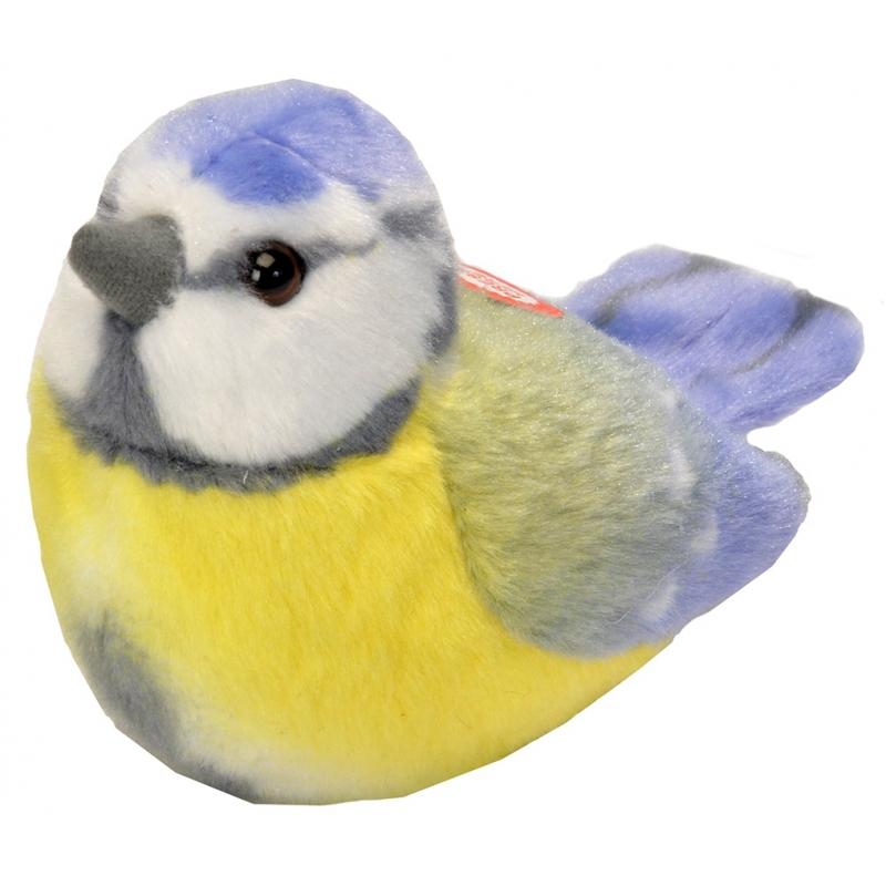 Pluche pimpelmees vogel 14 cm