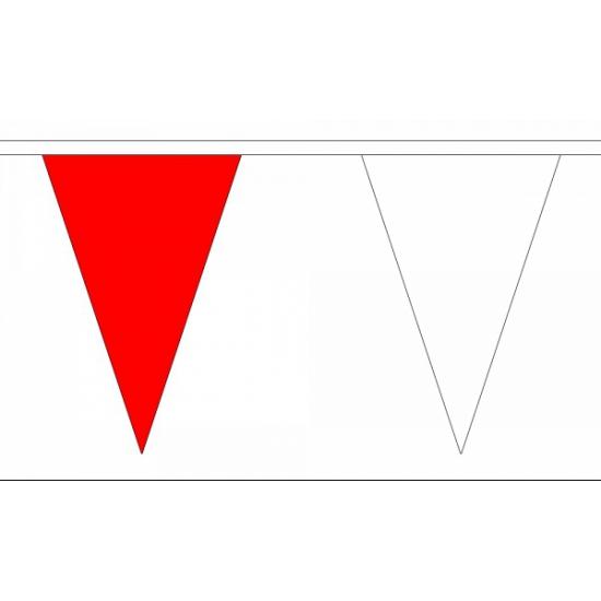 Polyester vlaggenlijn rood met wit AlleKleurenShirts Geweldig