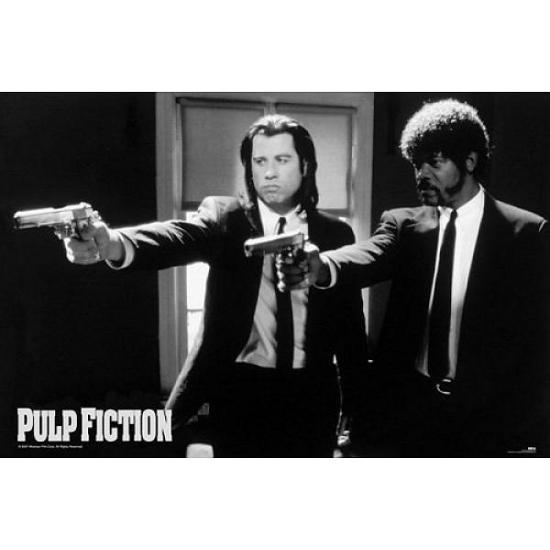 Woonaccessoires AlleKleurenShirts Pulp fiction maxi poster guns