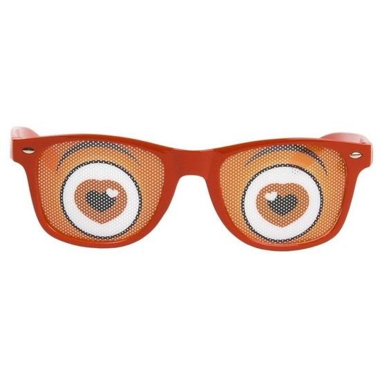 Rode brillen met hartjes ogen