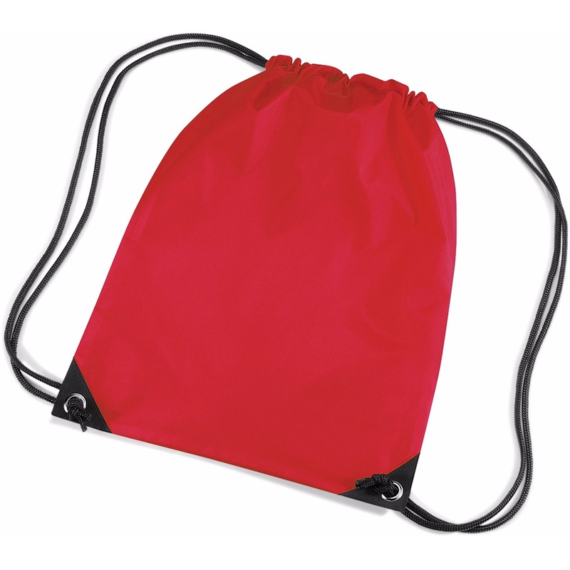 Tassen Geen Rode gymtas met koordsluiting
