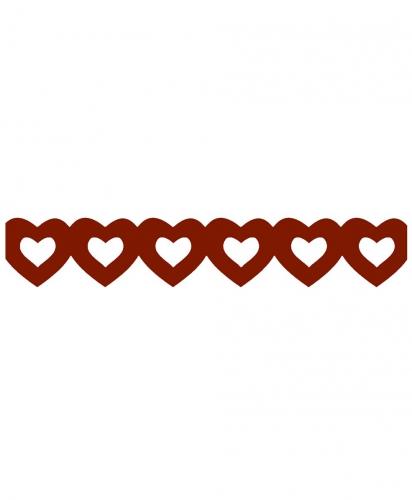 Thema feestartikelen AlleKleurenShirts Rode hartjes slinger van papier