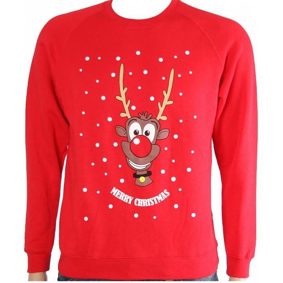 Frozen Kersttrui.Foute Kersttrui Rood Met Rendier Alle Kleuren Shirts Winkel