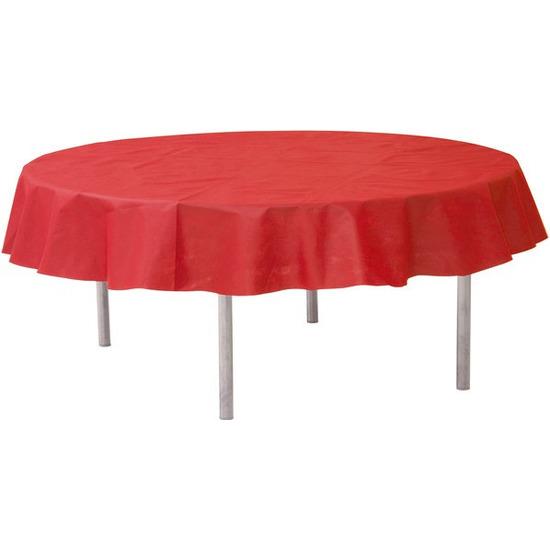 Rode ronde tafelkleden-tafellakens 240 cm van stof