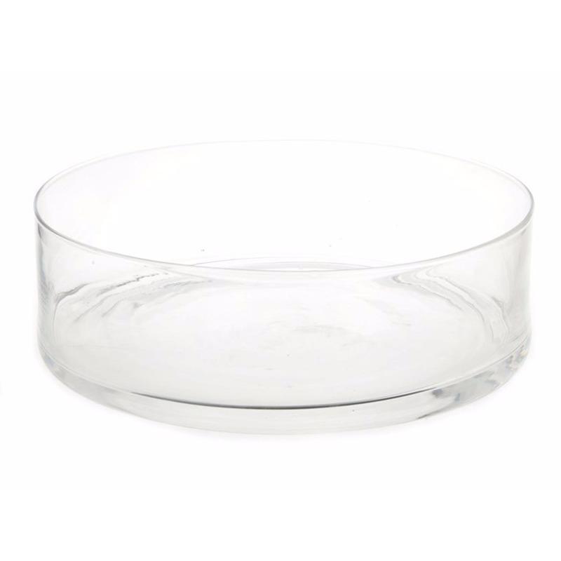 Woonaccessoires Geen Ronde decoratieschaal van glas 37 cm