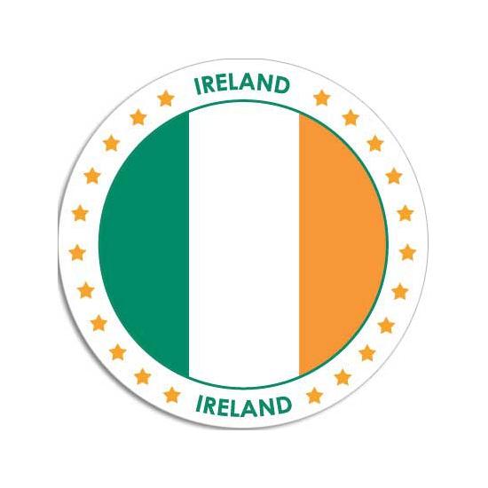 Ronde Ierland sticker Shoppartners Goedkoop
