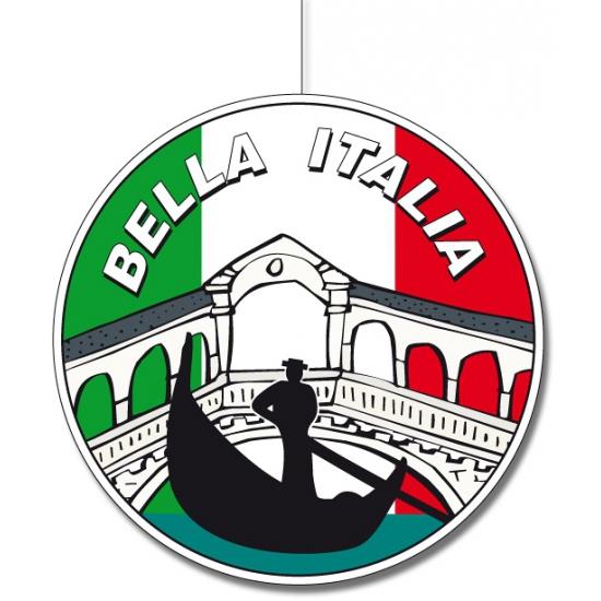 Ronde Italie hangdecoraties 28 cm AlleKleurenShirts Landen versiering en vlaggen