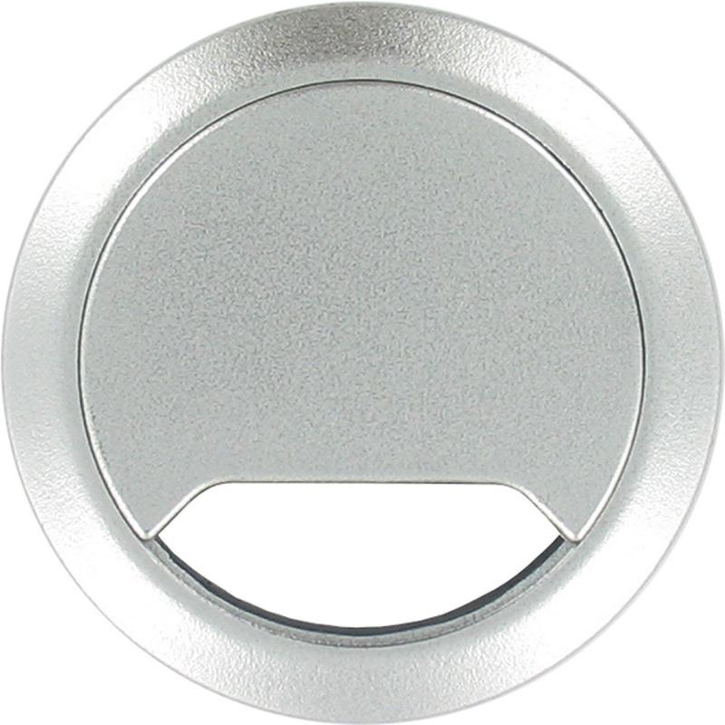 Ronde kabeldoorvoer aluminium zilver 80 mm