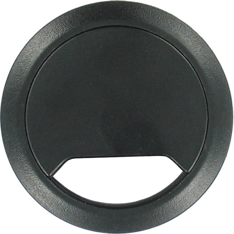 Ronde kabeldoorvoer zwart 80 mm