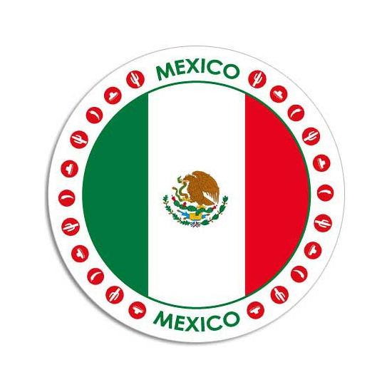 Ronde Mexico sticker Shoppartners Landen versiering en vlaggen
